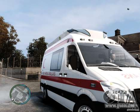 Mercedes Sprinter Turkish Ambulance für GTA 4 linke Ansicht