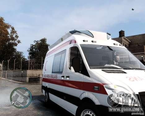 Mercedes Sprinter Turkish Ambulance für GTA 4 linke Ansicht