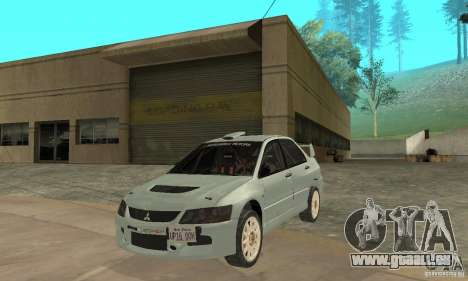 Mitsubishi Lancer Evolution IX für GTA San Andreas linke Ansicht