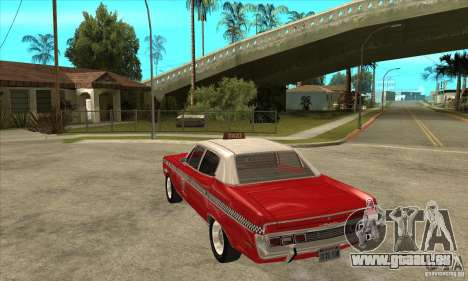 AMC Matador Taxi für GTA San Andreas zurück linke Ansicht