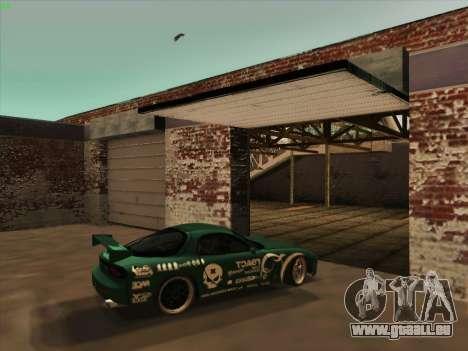 Mazda RX7 rEACT pour GTA San Andreas vue intérieure