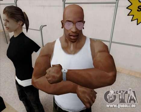 Rose Lunettes aviateur pour GTA San Andreas quatrième écran