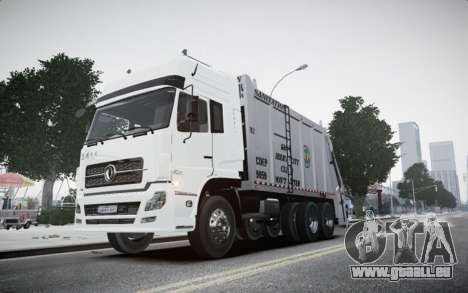 Dongfeng Denon Garbage Truck pour GTA 4 Vue arrière