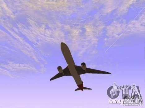 Boeing 787 Dreamliner Qantas für GTA San Andreas rechten Ansicht