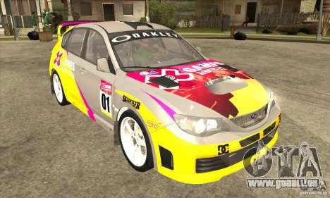 Subaru Impreza WRX STi X GAMES America von DIRT  für GTA San Andreas Rückansicht