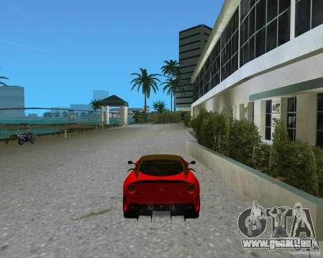 Ferrari 599 GTO pour GTA Vice City sur la vue arrière gauche