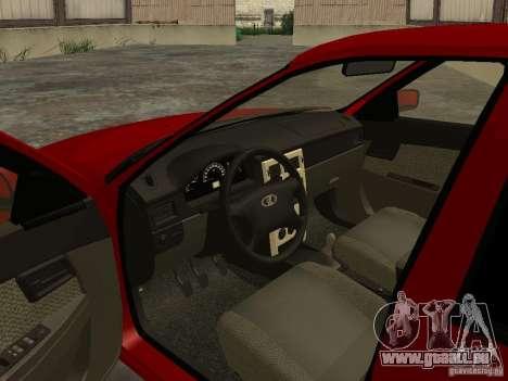 VAZ-2172 pour GTA San Andreas vue intérieure