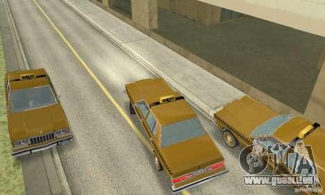 Dodge Diplomat 1985 Taxi pour GTA San Andreas sur la vue arrière gauche