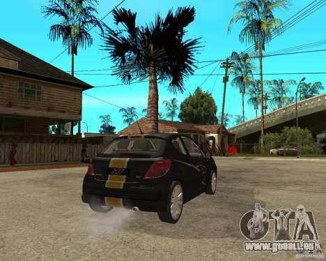 PEUGEOT 207 Griffe LANCARSPORT pour GTA San Andreas sur la vue arrière gauche