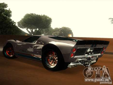 Ford GT40 1966 für GTA San Andreas obere Ansicht