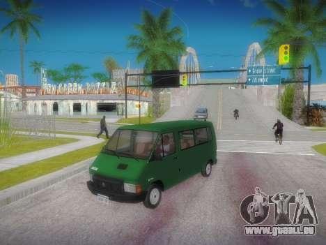 Renault Trafic T1000D Minibus für GTA San Andreas zurück linke Ansicht