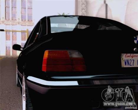 BMW M3 E36 New Wheels pour GTA San Andreas vue arrière