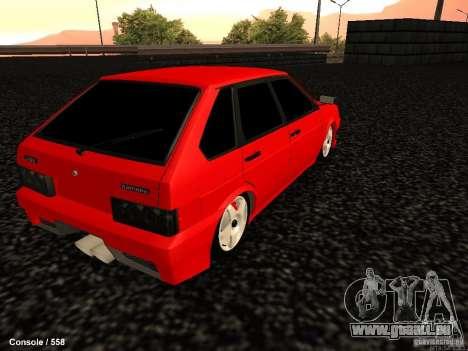VAZ 2109 Opera Turbo für GTA San Andreas zurück linke Ansicht