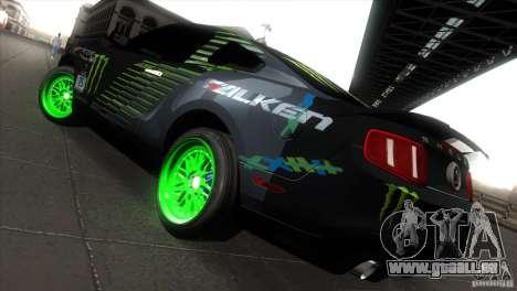 Ford Shelby GT500 Falken Tire für GTA San Andreas rechten Ansicht