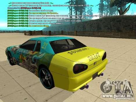 Elegy Forsage pour GTA San Andreas vue de dessus