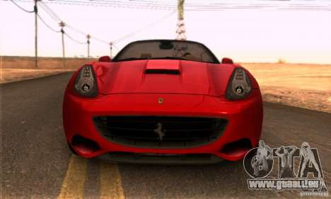 Ferrari California V3 pour GTA San Andreas vue de droite