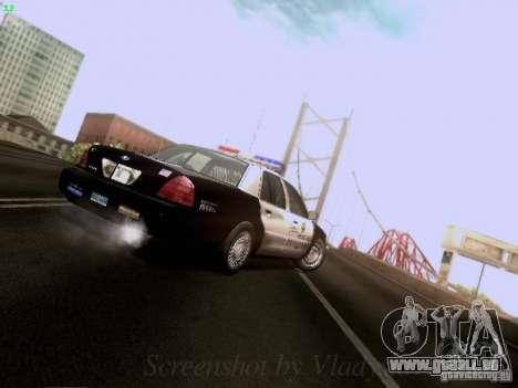 Ford Crown Victoria Los Angeles Police pour GTA San Andreas vue de côté