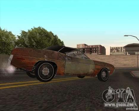 Plymouth Cuda Ragtop 1970 pour GTA San Andreas laissé vue