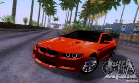 BMW M3 E92 v1.0 pour GTA San Andreas vue arrière