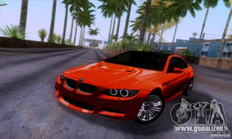 BMW M3 E92 v1.0 für GTA San Andreas Rückansicht