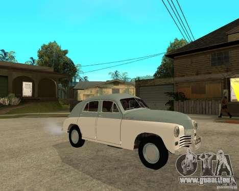 GAZ M20 Pobeda für GTA San Andreas rechten Ansicht