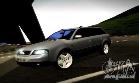 Audi A6 C5 Avant 3.0 pour GTA San Andreas laissé vue
