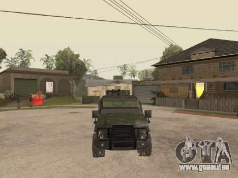 Oshkosh SandCat of Mexican Army pour GTA San Andreas vue intérieure
