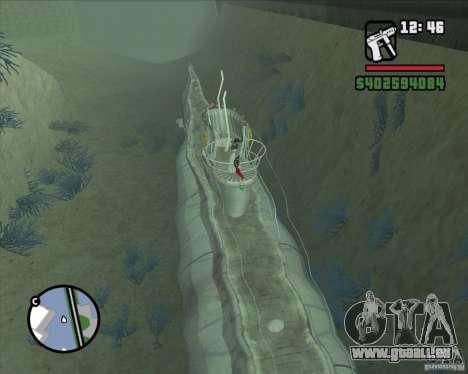 U99 German Submarine für GTA San Andreas dritten Screenshot