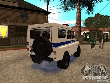 UAZ-Polizei für GTA San Andreas rechten Ansicht