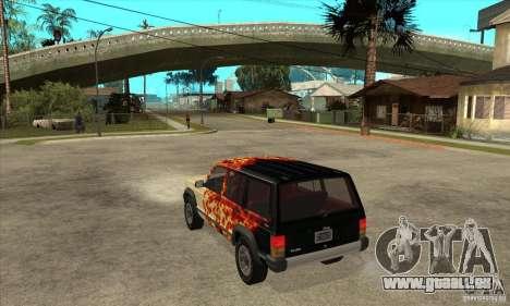 Jeep Cherokee 1984 pour GTA San Andreas sur la vue arrière gauche