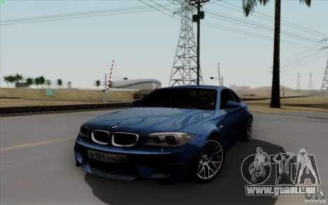 BMW 1M 2011 V3 pour GTA San Andreas vue arrière