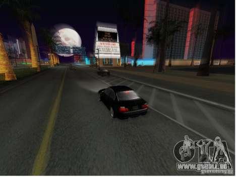 BMW M3 GT-R Stock pour GTA San Andreas sur la vue arrière gauche