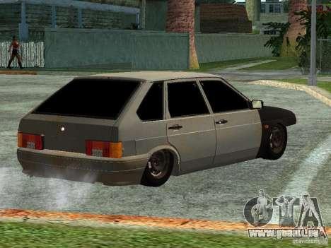 ВАЗ 2114 Hobo pour GTA San Andreas laissé vue