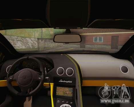 Lamborghini Murcielago LP 670/4 SV Fixed Version pour GTA San Andreas sur la vue arrière gauche