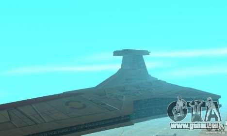 Republic Attack Cruiser Venator class v2 für GTA San Andreas zurück linke Ansicht