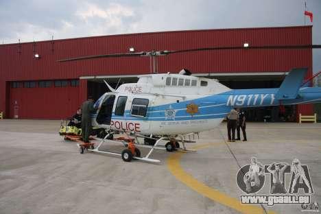 Bell 206 B - Chicago Police Helicopter für GTA 4 obere Ansicht