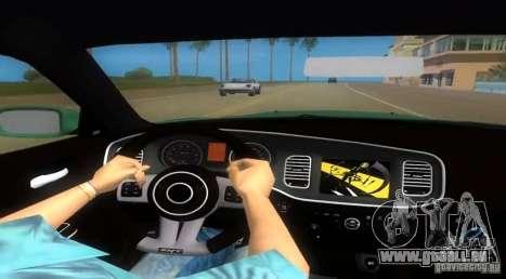 Dodge Charger pour GTA Vice City sur la vue arrière gauche