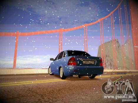 Lada Priora Turbo v2.0 pour GTA San Andreas laissé vue