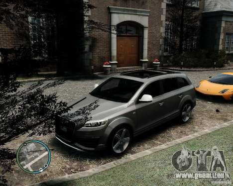 Audi Q7 V12 TDI Quattro Updated pour GTA 4 Vue arrière