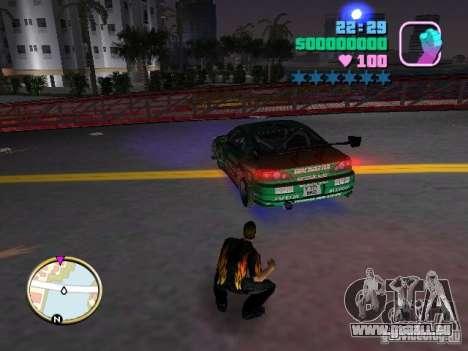 Nissan Silvia S15 Kei Office D1GP pour GTA Vice City sur la vue arrière gauche