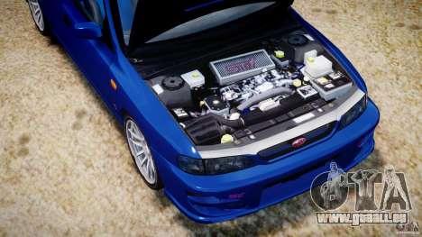 Subaru Impreza WRX STI 1999 v1.0 pour GTA 4 est une vue de l'intérieur