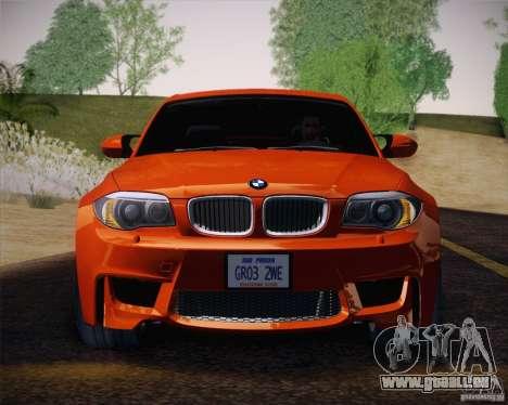 BMW 1M v2 für GTA San Andreas Innenansicht