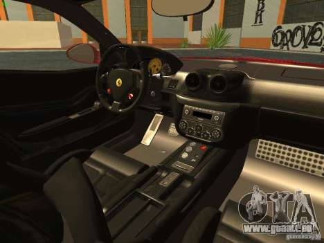 Ferrari 599 GTB für GTA San Andreas Innenansicht