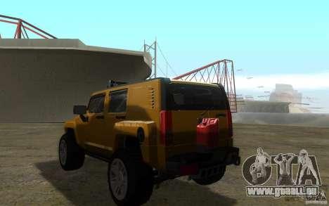 Hummer H3R pour GTA San Andreas laissé vue