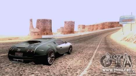 Bugatti ExtremeVeyron pour GTA San Andreas vue arrière