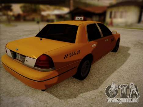 Ford Crown Victoria Taxi 2003 für GTA San Andreas linke Ansicht