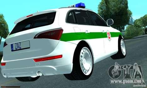 Audi Q5 TDi - Policija für GTA San Andreas rechten Ansicht