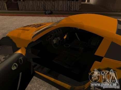 Nissan 350Z für GTA San Andreas obere Ansicht