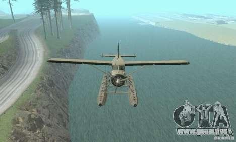 DeHavilland Beaver DHC2 pour GTA San Andreas vue de droite