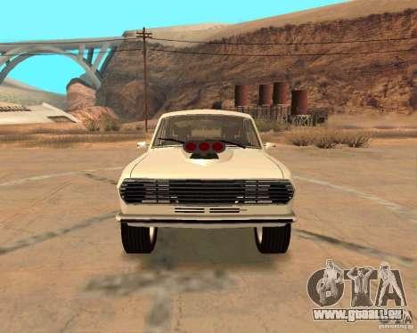 GAZ Volga 2410 Hot Road pour GTA San Andreas vue de dessous